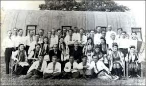 Unknown but typical Polish Camp group photograph